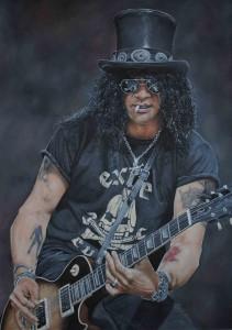 Slash Guns and Roses Painting