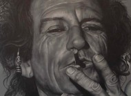 Keith Richards Rolling Stones Painting