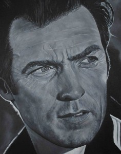 clint eastwood painting
