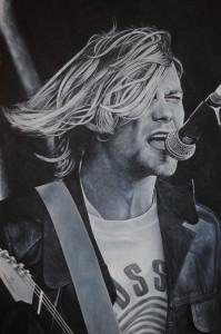 Kurt Cobain Live 60x90cm jpeg